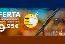 Limpiaparabrisas delanteros por 19.95€ con Cristalbox