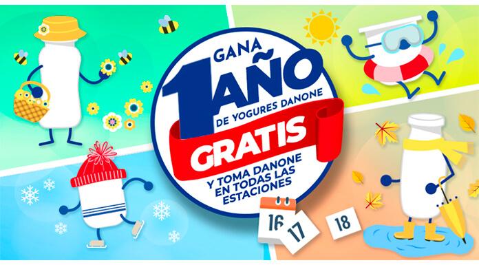 Gana 1 año de yogures Danone gratis