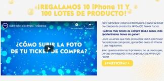 Nivea regala 10 iPhone 11 y 100 lotes de producto