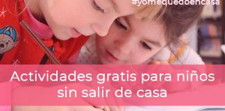 Actividades gratis para niños sin salir de casa