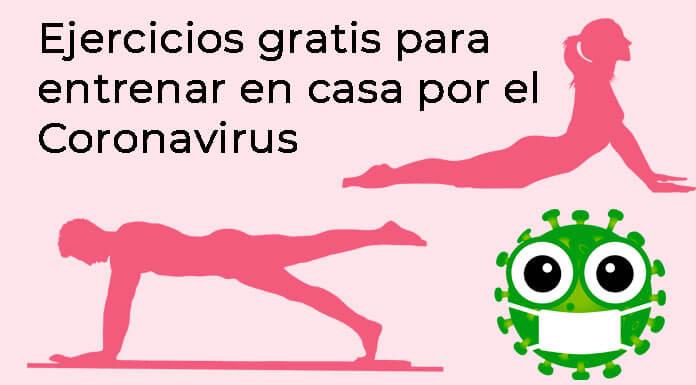 Ejercicios gratis para entrenar en casa por el Coronavirus