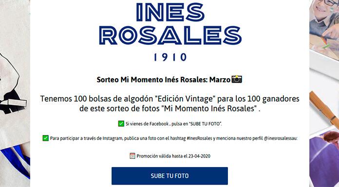Inés Rosales sortea 100 bolsas de algodón