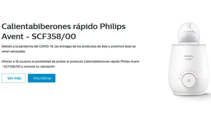 Prueba gratis Calientabiberones rápido Philips Avent