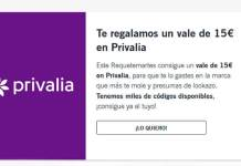 Yoigo te regala un vale de 15€ en Privalia