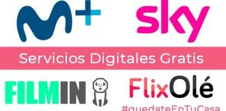 Servicios digitales gratis por el coronavirus #quedateentucasa