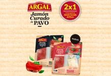 2x1 en packs de Jamón Curado de Pavo Argal