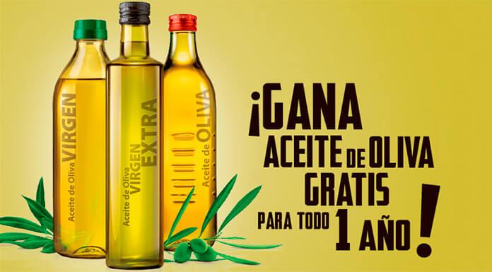 Gana aceite de oliva gratis para un año
