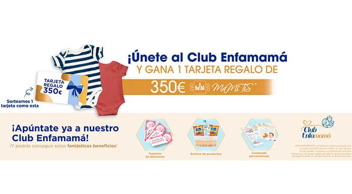 Gana una tarjeta regalo de 350€ con Club Enfamamá