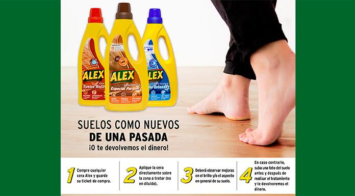 Prueba cera para el suelo Alex sin compromiso