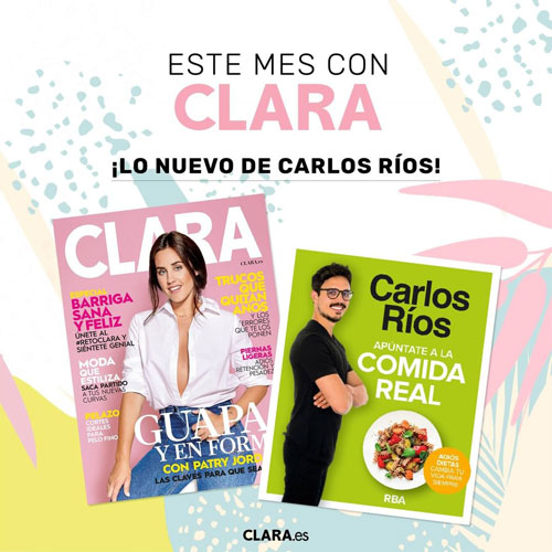 Lo nuevo de Carlos Rios Gratis con la revista Clara de Junio.