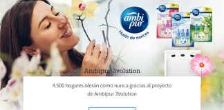 4.500 hogares probarán gratis Ambipur 3Volution
