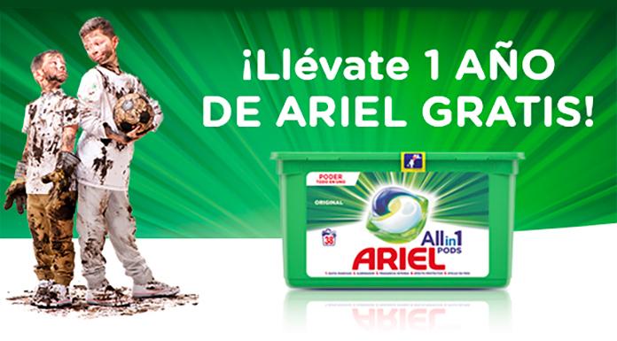 Llévate un año de Ariel gratis