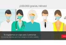 Viajes gratis para personal sanitario