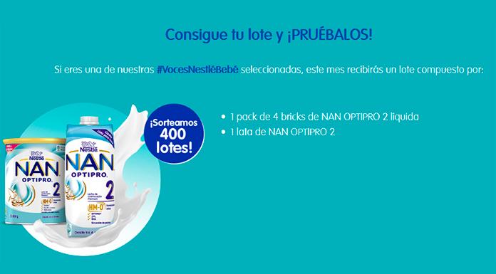 Voces Nestlé Bebé sortea 400 lotes de NAN OPTIPRO 2