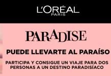 Consigue un viaje con Paradise de L'Oréal
