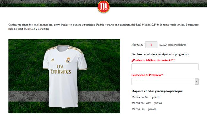 Gratis una camiseta del Real Madrid con Mahou