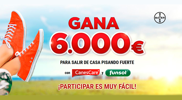 Gana 6.000 euros que sortea Funsol y CanesCare Pro·Tect Spray