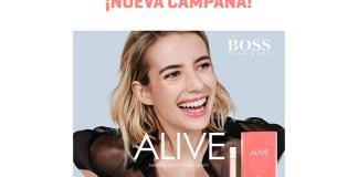 Muestras gratis del perfume Alive de Hugo Boss