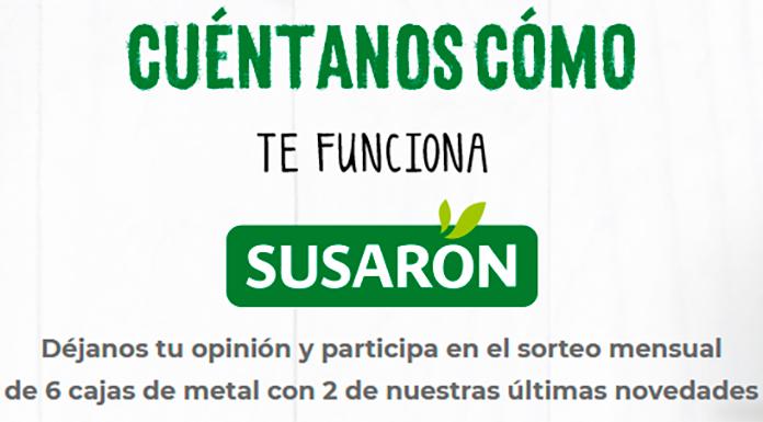Sorteo mensual de 6 cajas de metal Susaron