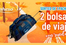 Sorteo de Maheso de 2 bolsas de viaje con ruedas