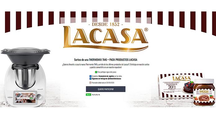 Sorteo de una Thermomix + pack de productos Lacasa