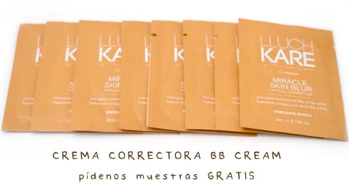Muestras gratis de crema correctora BB Cream LluchKare