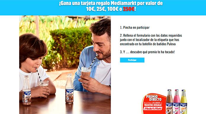 Gana una tarjeta regalo Mediamarkt con Batidos Puleva