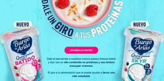 Prueba gratis los quesos frescos batido y Skyr Burgo de Arias