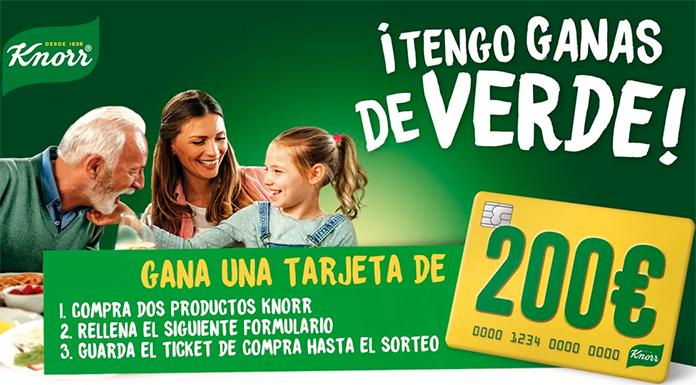 Gana una tarjeta de 200 € con Knorr
