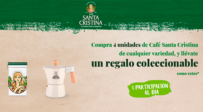 Llévate un regalo coleccionable Cafés Santa Cristina