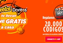 Cine gratis con Cheetos y Doritos