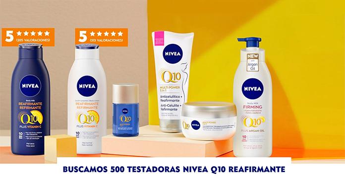 Buscan 500 testadoras de Nivea Q10 Reafirmante