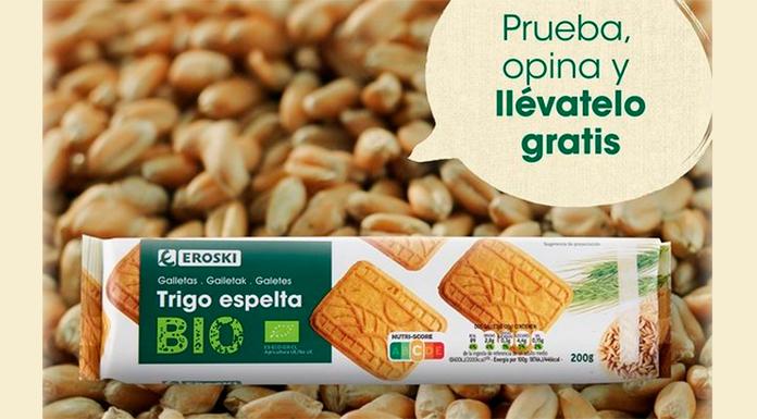 Prueba gratis las galletas de espelta Eroski Bio