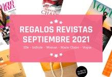 Regalos Revistas Septiembre 2021
