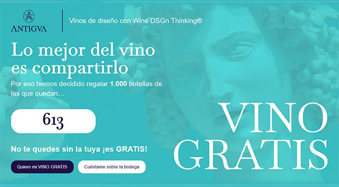 Bodega ANTIGVA regala 1.000 botellas de vino