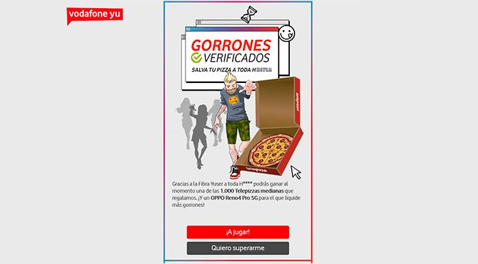 Gana una de las Telepizzas Medianas que regala Vodafone