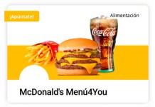 Descubre gratis el Menú4You de McDonald's