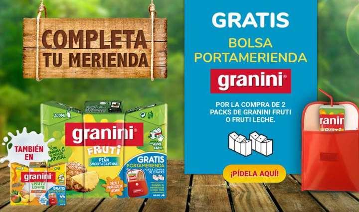 Bolsa portamerienda gratis de Granini