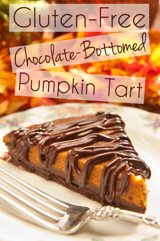 Gluten-Free Chocolate-Bottomed Pumpkin Tart. Perfect for the holidays! The great part is… it's healthy!