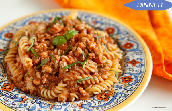 7 Day Slim Down Recipe eBook - Turkey Marinara Pasta