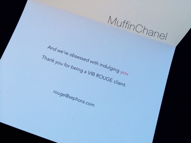 muffinchanel vib rouge vibr special surprise gifts vib sephora free card