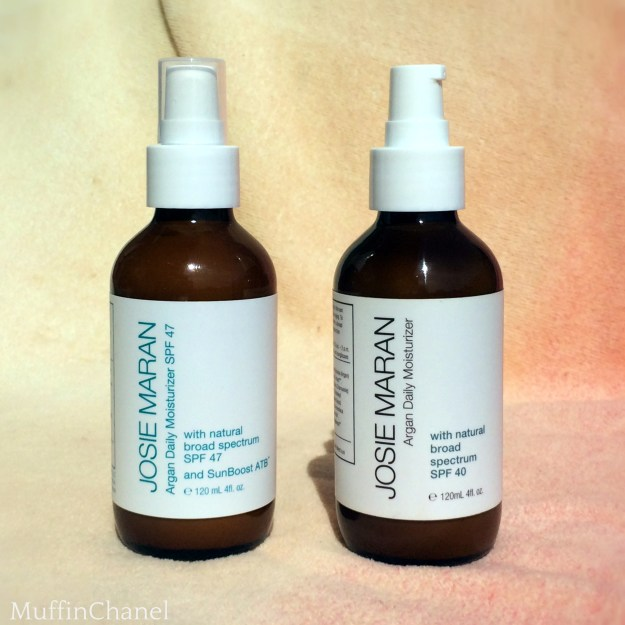 muffinchanel josie maran daily argan moisturizer spf 40 47 review vs comparison qvc sephora
