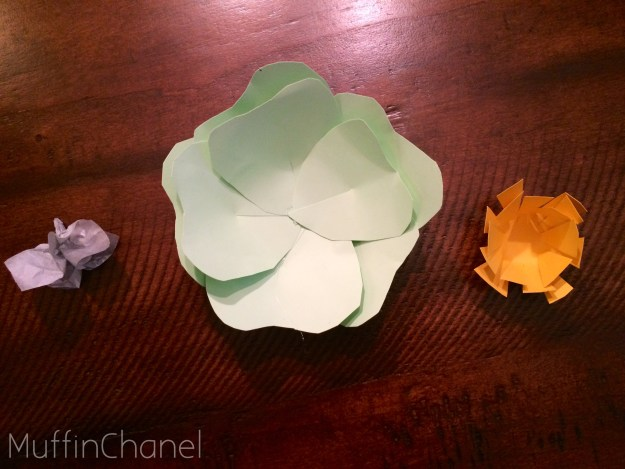 muffinchanel paper flowers valentines day pattern easy quick fun cute gift idea