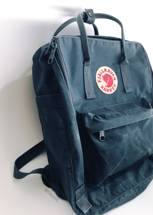 fjallraven kanken backpack review how big what's in my bag muffinchanel slim profile