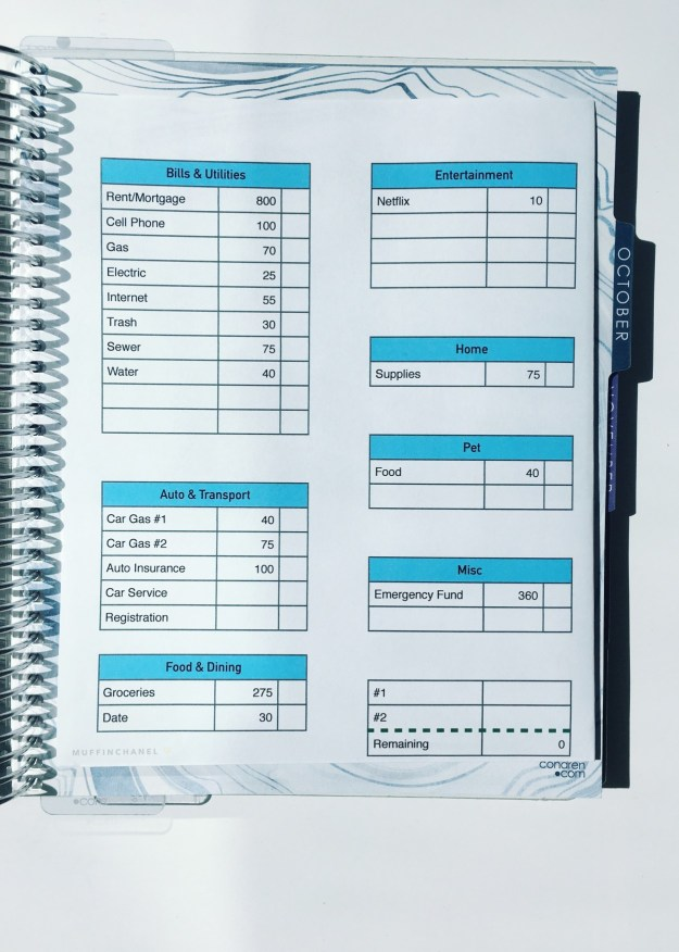 how to make a budget how i track money with my erin condren life
