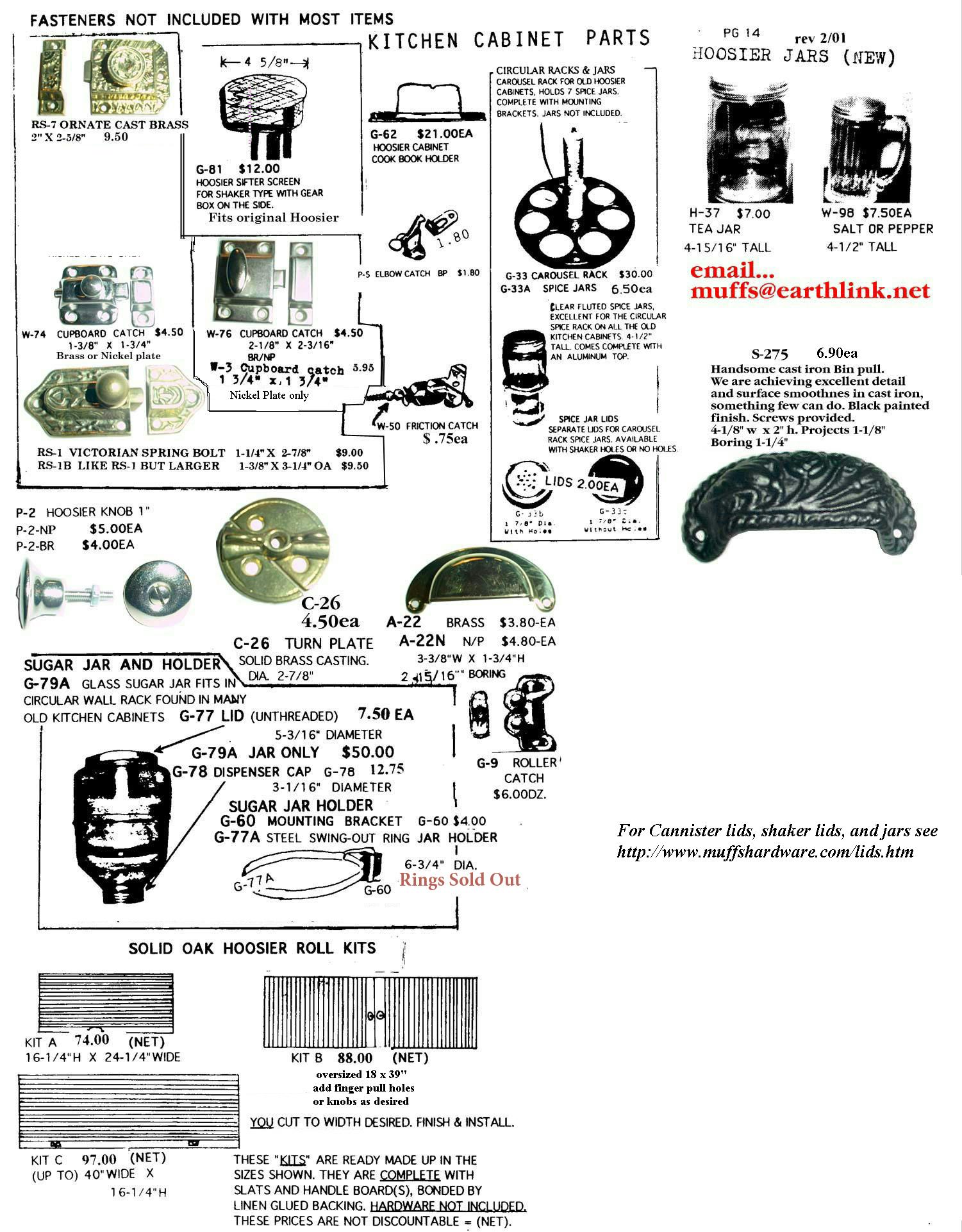 Muffshardware Hoosier Parts