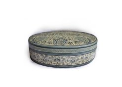 Mughal paisley box, Grey jewelry box,