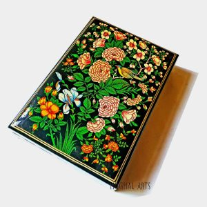 Flora Fauna box / Kashmiri handmade box/ Beautiful wooden jewelry box /Jewelry organiser/Bride gift box / Trinket box