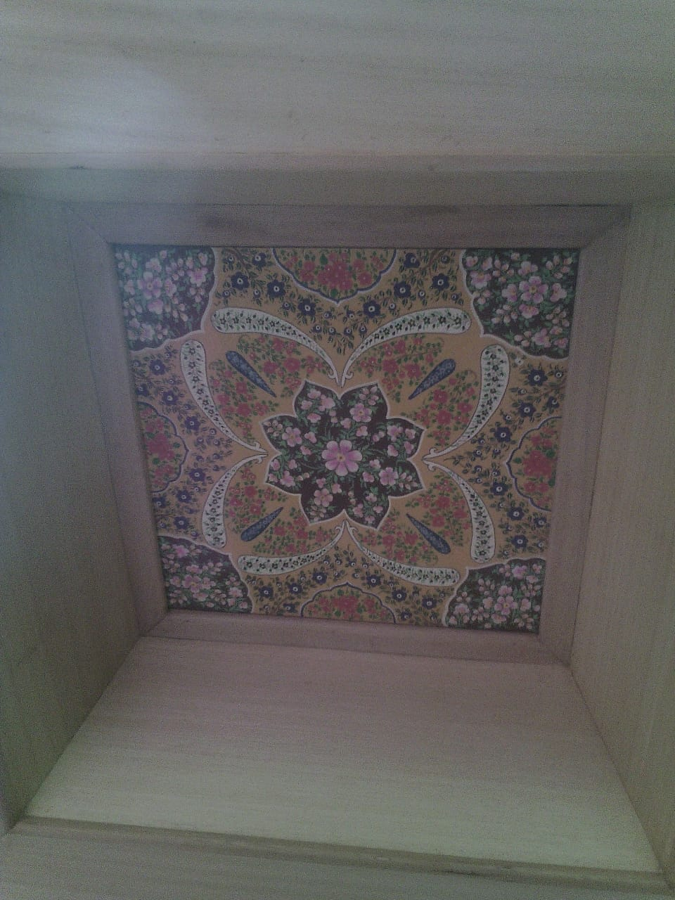 ceiling-checkered-flora, mughal art, wall art