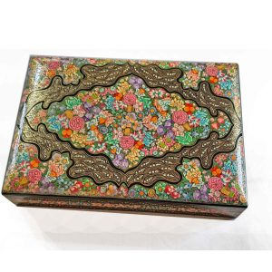 Wedding Jewelry box / Real gold painted jewelry box/ paper mache jewellery box/ Miniature art jewellery box/ Fine hazara box / Beautiful box
